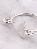 Latched Triangle Ring Anarchy Street Silver - Details