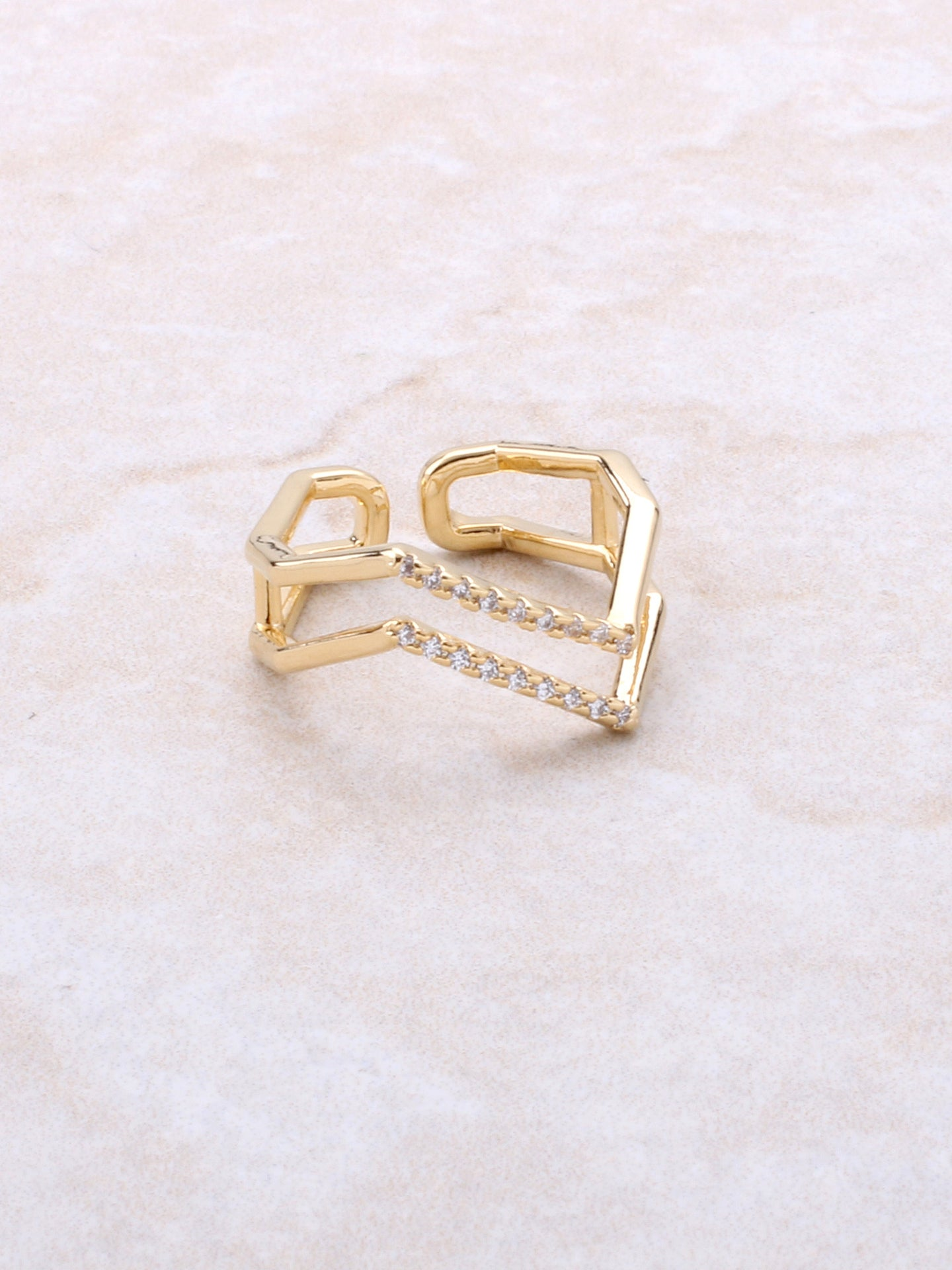 Pave Jagged Ring