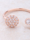Double Button Ring Anarchy Street Rosegold - Details