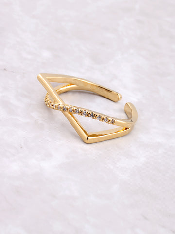 Curved Over Ring Anarchy Street Gold