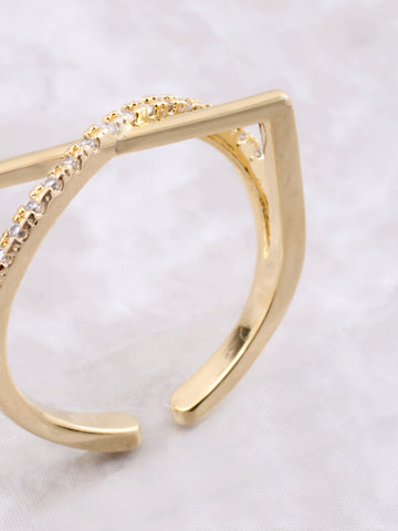 Curved Over Ring Anarchy Street Gold - Details