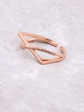Curved Over Ring Anarchy Street Rosegold