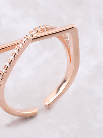 Curved Over Ring Anarchy Street Rosegold - Details