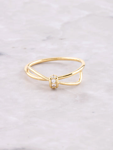 Bow Tie Ring Anarchy Street Gold - Details