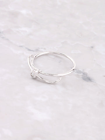 Bow Tie Ring Anarchy Street Silver