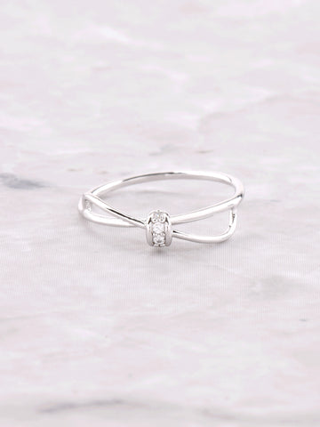 Bow Tie Ring Anarchy Street Silver - Details