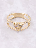 Pave Pyramid Ring Anarchy Street Gold