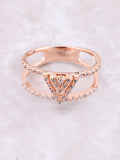 Pave Pyramid Ring Anarchy Street Rosegold