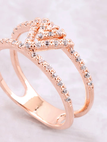 Pave Pyramid Ring Anarchy Street Rosegold - Details