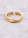 Double Tipped Pave Ring Anarchy Street Gold