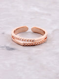 Double Tipped Pave Ring Anarchy Street Rosegold