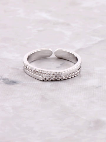 Double Tipped Pave Ring Anarchy Street Silver
