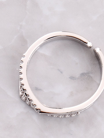 Double Tipped Pave Ring Anarchy Street Silver - Details
