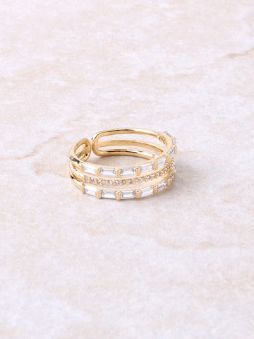 Baguette Pave Ring Anarchy Street Gold