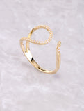 Pave Curved Line Ring Anarchy Street Gold