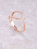 Pave Curved Line Ring Anarchy Street Rosegold