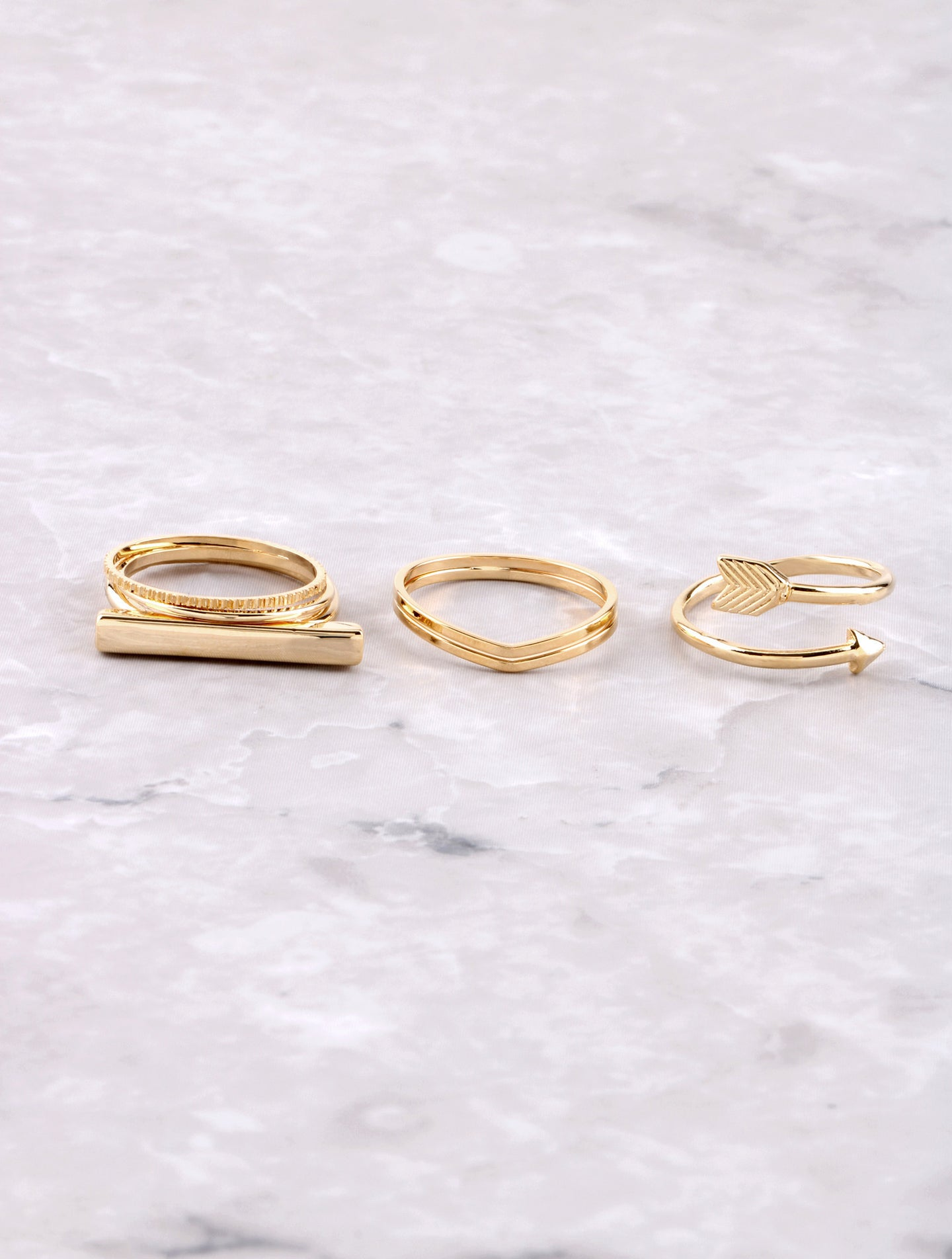 Minimalist Ring Set Anarchy Street Gold