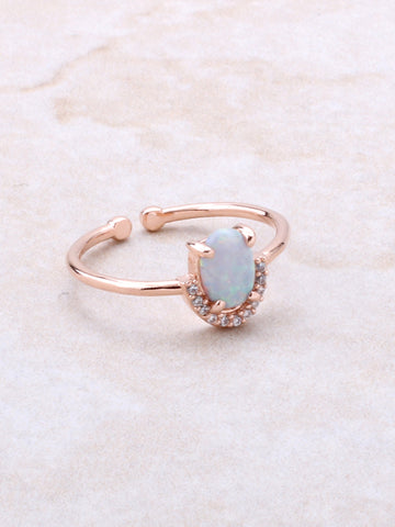 Halographic Oval Ring Anarchy Street Rosegold