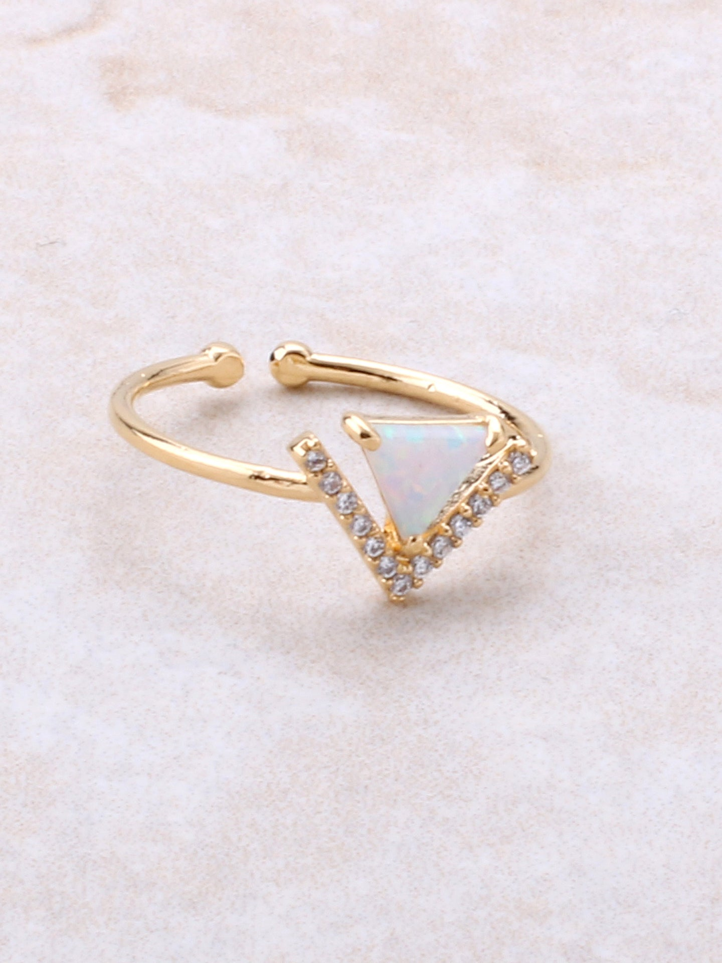 Halographic Triangle Ring Anarchy Street Gold