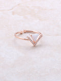 Halographic Triangle Ring Anarchy Street Rosegold