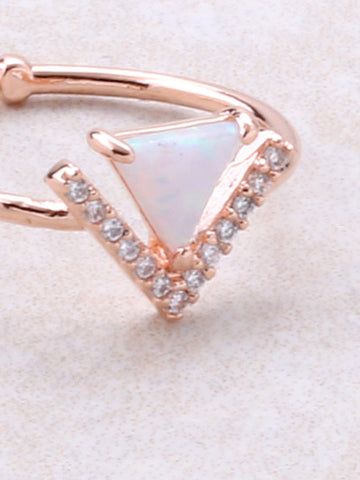 Halographic Triangle Ring Anarchy Street Rosegold - Details