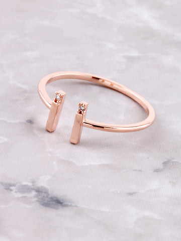 Parallel Lines Ring Anarchy Street Rosegold