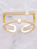 Opposites Attract Ring Anarchy Street Gold - Details