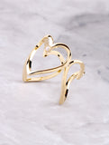 3D Heart Ring Anarchy Street Gold