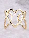 3D Heart Ring Anarchy Street Gold - Details