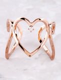 3D Heart Ring Anarchy Street Rosegold - Details