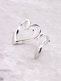 3D Heart Ring Anarchy Street Silver