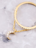 Pave Pendant Ring Anarchy Street Gold - Details - Moon