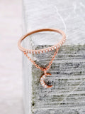 Pave Pendant Ring Anarchy Street Rosegold - Moon