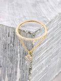 Pave Pendant Ring Anarchy Street Gold - Lucky