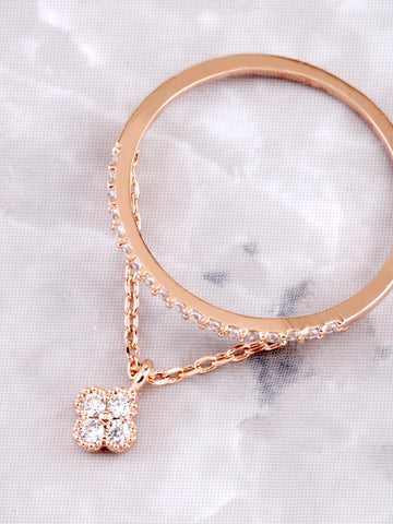 Pave Pendant Ring Anarchy Street Rosegold - Details - Lucky