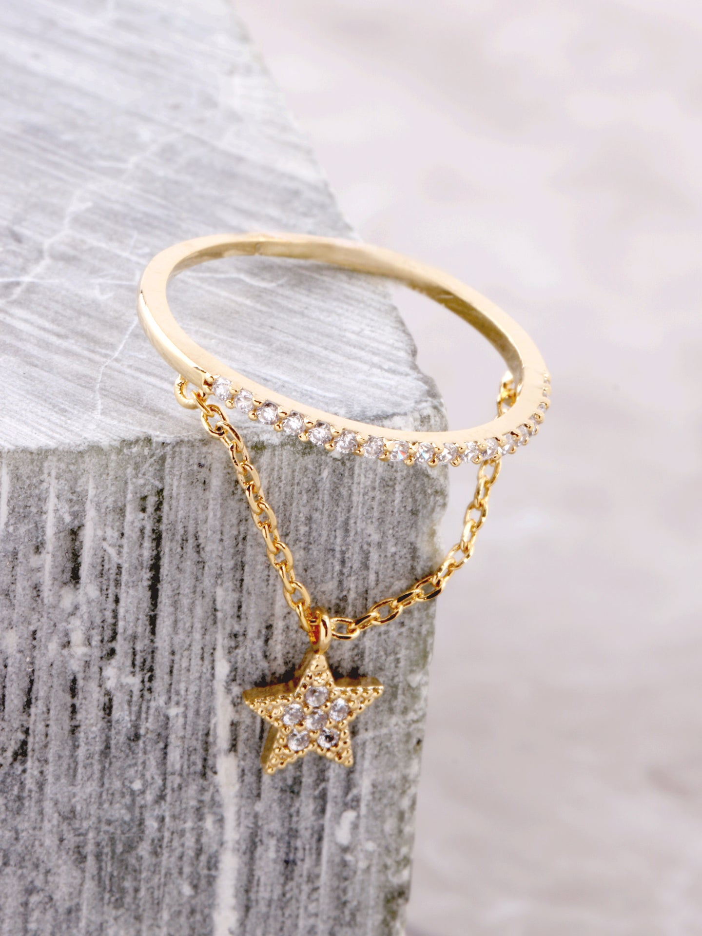 Pave Pendant Ring Anarchy Street Gold - Star