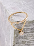 Pave Pendant Ring Anarchy Street Gold - Heart