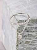 Pave Pendant Ring Anarchy Street Silver - Heart