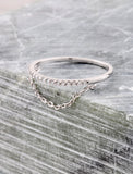 Pave Chain Ring Anarchy Street Silver