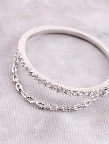 Pave Chain Ring Anarchy Street Silver - Details