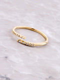 Misguided Pave Ring Anarchy Street Gold