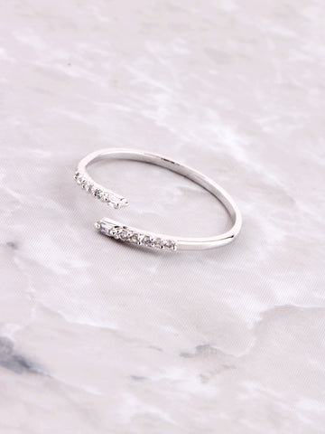Misguided Pave Ring Anarchy Street Silver
