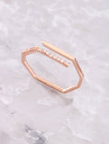 Pave Octagon Ring Anarchy Street Rosegold