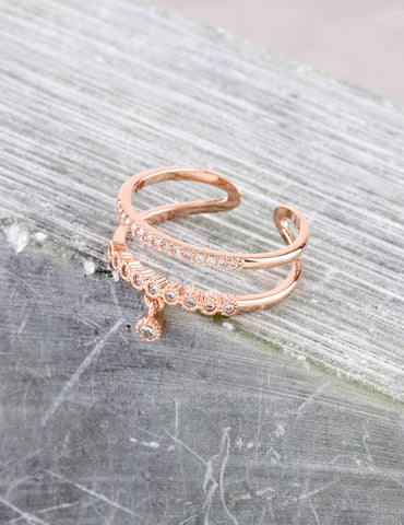 Charming Ring Anarchy Street Rosegold