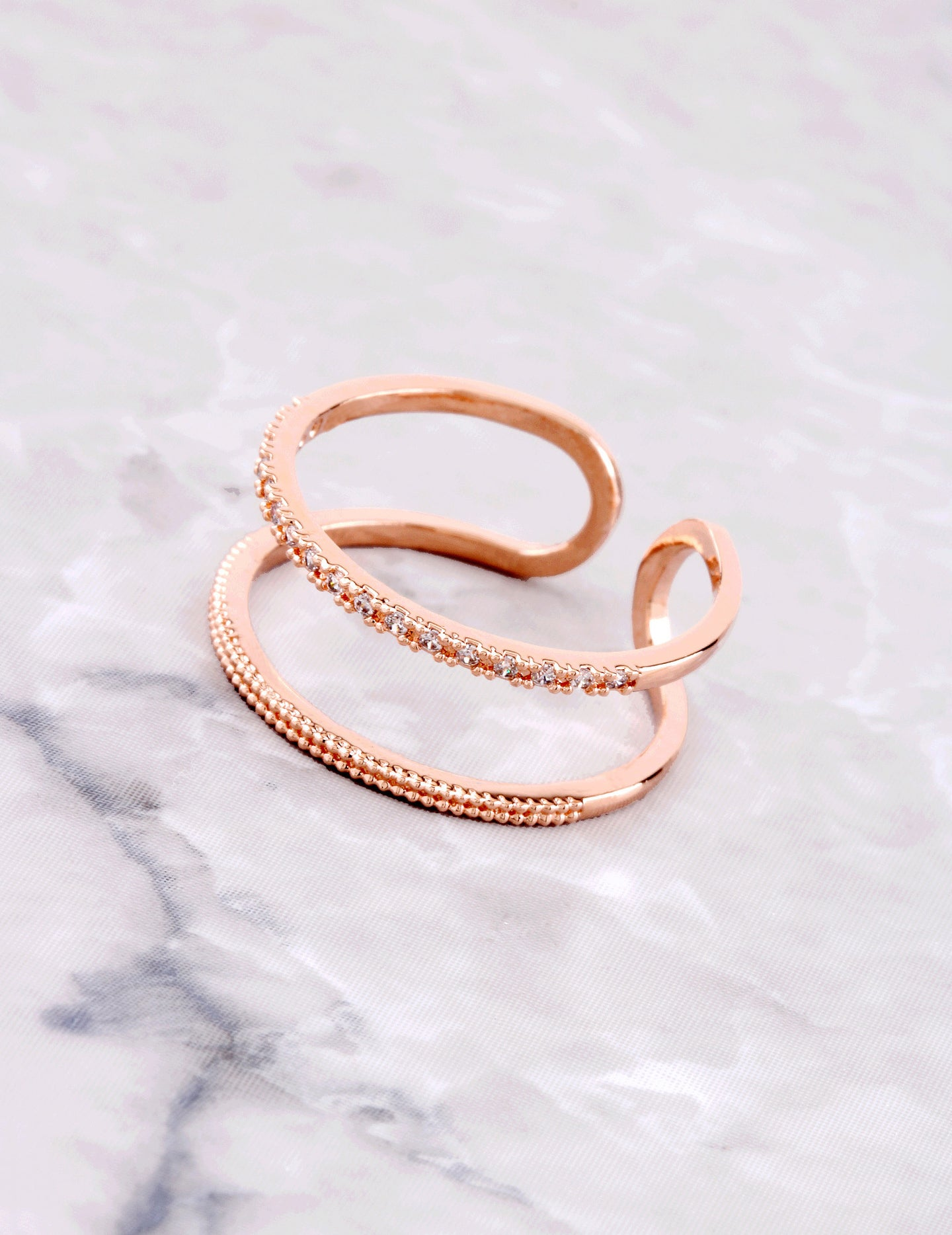Duplicated Ring Anarchy Street Rosegold