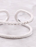 Duplicated Ring Anarchy Street Silver - Details