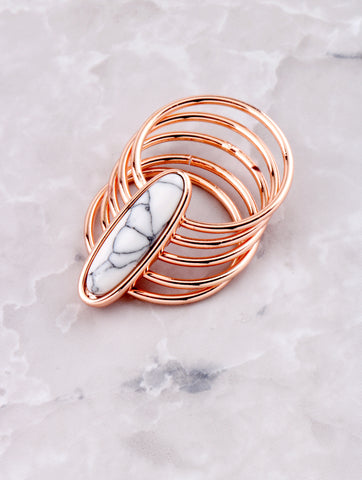 Marble Stacked Ring Anarchy Street Rosegold