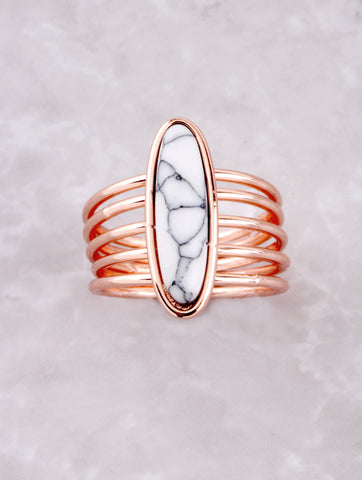 Marble Stacked Ring Anarchy Street Rosegold - Details