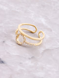Pave Oh Ring Anarchy Street Gold