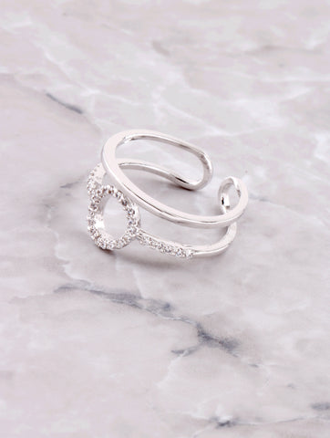 Pave Oh Ring Anarchy Street Silver
